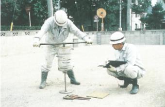 地質調査→耐震性向上