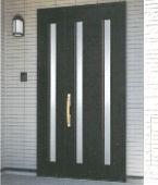 玄関ドア、ポーチタイル